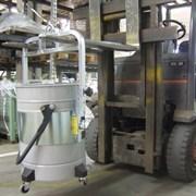 Перемещение промышленного пылесоса погрузчиком