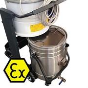 Контейнер промышленного пылесоса с сепаратором для сбора взрывоопасной металлической пыли