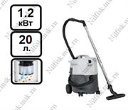 Пылеводосос с полуавтоматической очисткой фильтра Nilfisk VL200 20 PC (1.2 кВт, 20 л.)