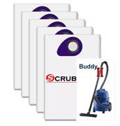 Scrubtec рrоfеѕѕіоnаl NL6 синтетические мешки для пылесоса NILFISK BUDDY II 12, BUDDY II 18, 5 штук